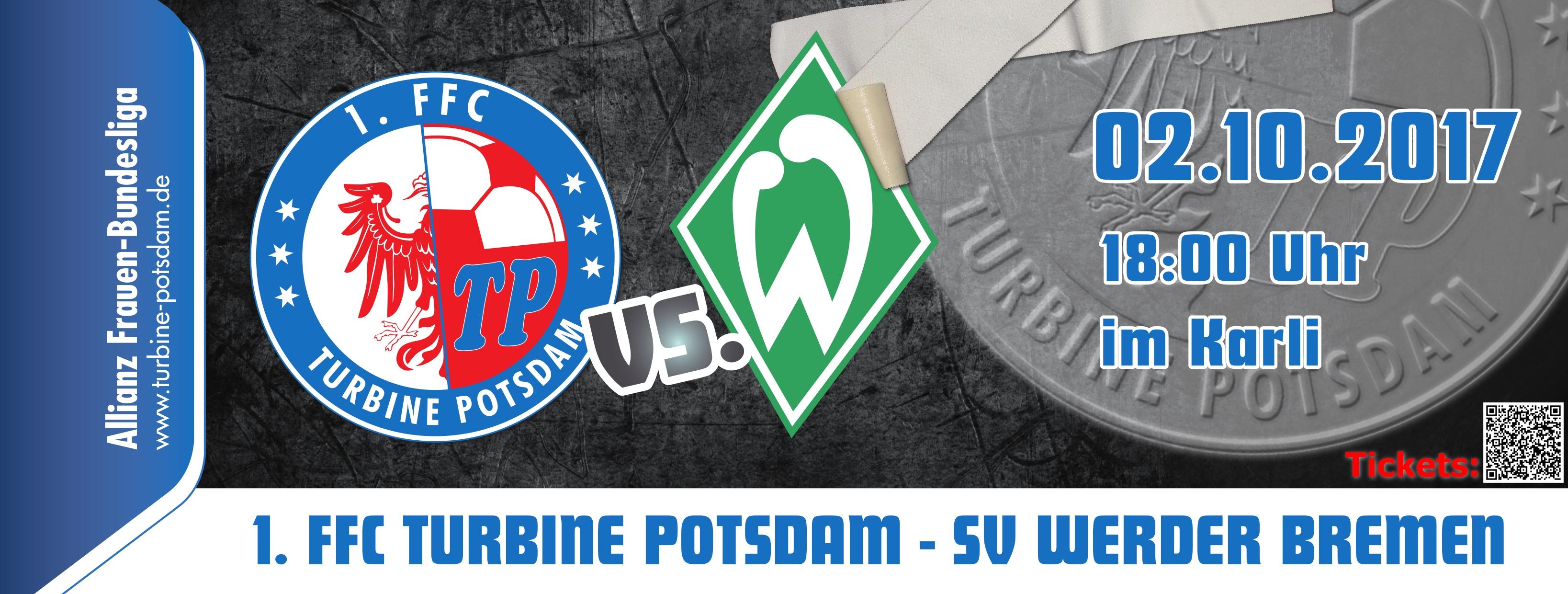 Kartenvorverkauf Gestartet 1ffc Turbine Potsdam Werder Bremen