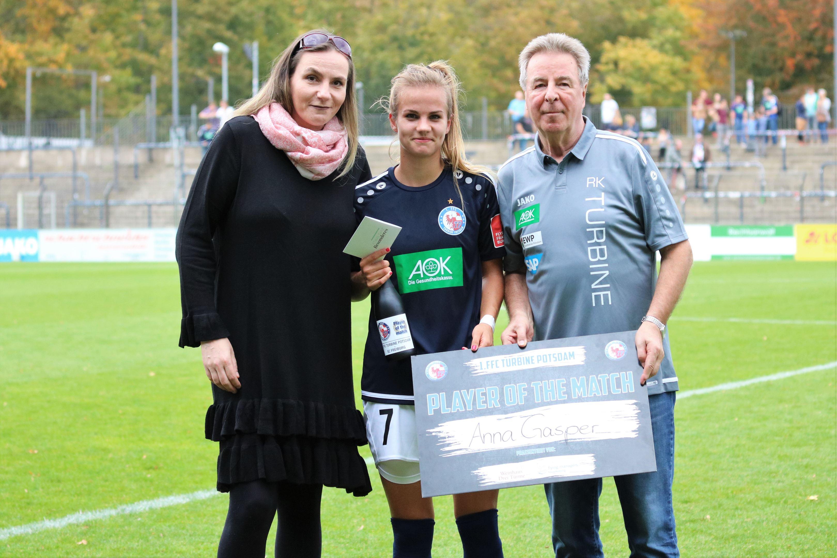 Plyer of the Match - Anna Gasper